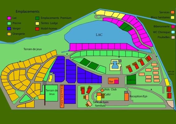 Plan du camping du Brévedent