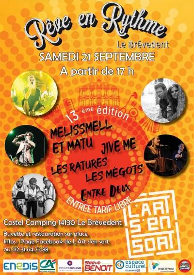 Affiche du festival de musique Rêve en Rythme